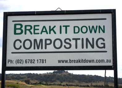 Sign at Compost Site